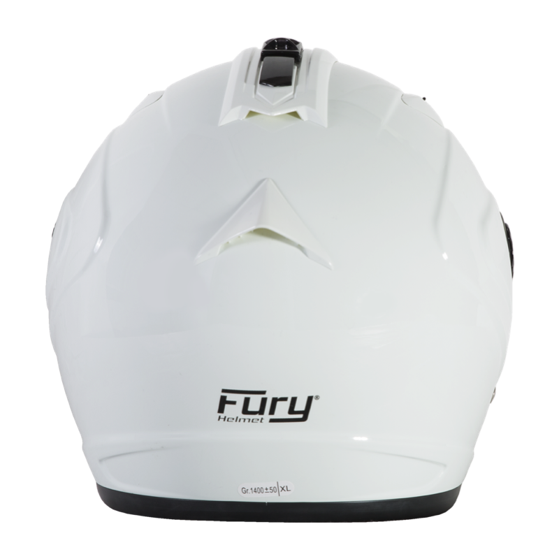 Fury Casque Jet Spike Blanc