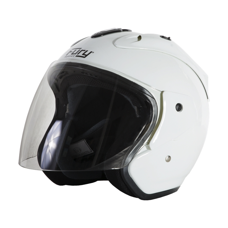 Fury Casque Jet Nero Blanc