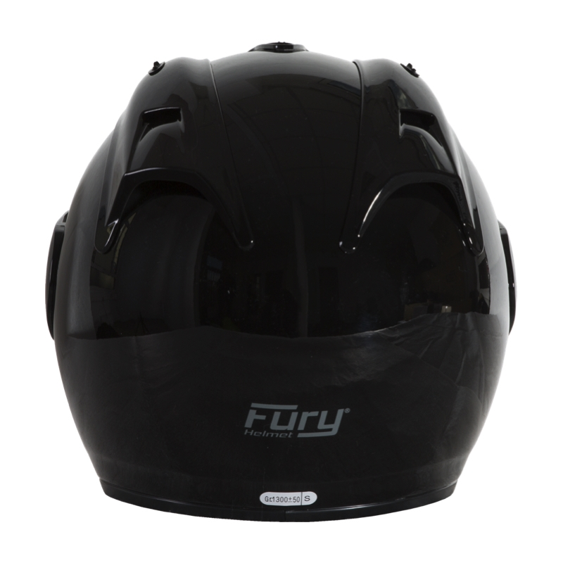 Fury Casque Jet Nero Noir Brillant