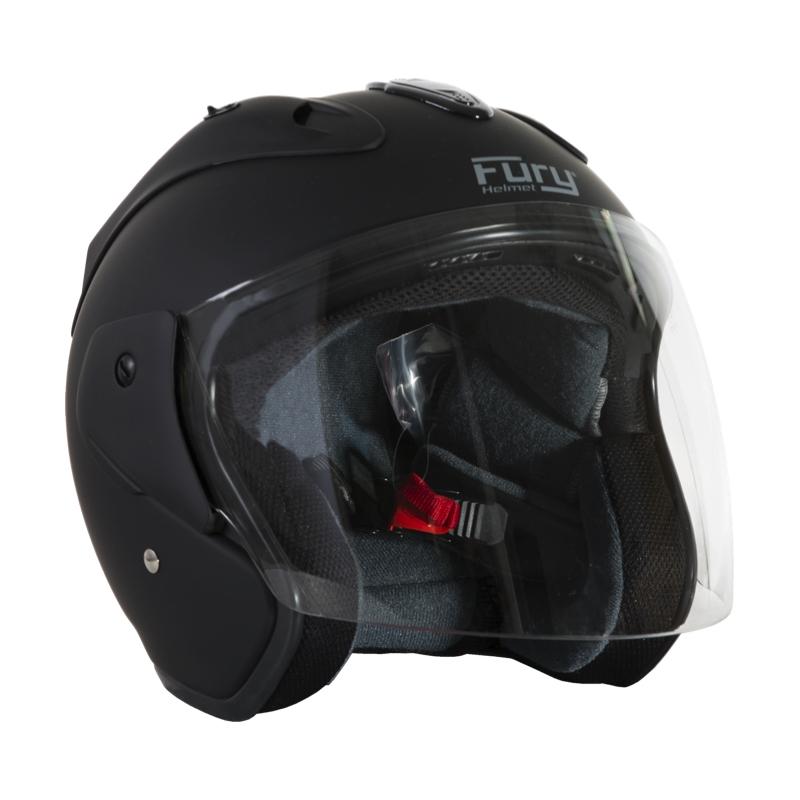 Fury Casque Jet Nero Noir Mat